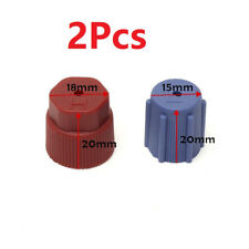 2Pcs R134a Car AC A/C Valve Cap Refrigerant Valve High/Low Voltage Dust Cover TY