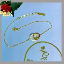18K Real Gold Love bracelet/Anklet 7.5-8.5 Inches  3.05Grams K18/750 Stamped