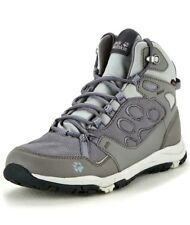 Jack Wolfskin Womens UK 7.5 EU 41 Grey Texapore Mid Trainers Hiking Boots Shoes