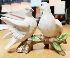 Lefton China / 2 Doves on a Branch / Doves / Figurine / 00754 / Hand Painted