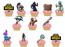 SAVE 12 X PRECUT CHARACTERS FORTNITE EDIBLE CAKE PACK 15 X CC TOPPERS