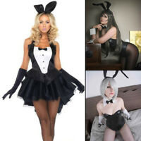 Sexy Womens Lingerie Bunny Bodysuit PlayBoy Cosplay Costume Club Party Set US