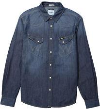 Wrangler Western Denim Shirt Dark Indigo L