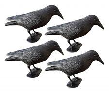 4x WELLGRO® Vogelschreck Krähe Rabe Vogelscheuche Taubenschreck Taubenabwehr NEU