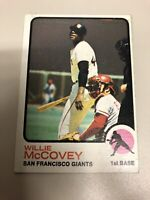 1973 Topps Willie Mccovey #410 Baseball Card. SF Giants
