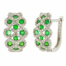 0.20ctw Diamond Fashion Hoop Earrings 14k White Gold