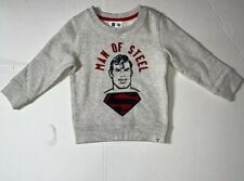 Preowned- Gap Kids x Dc Comics Man Of Steel Sweatshirt Boys (Size 3T)