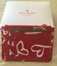 ef32c88a0891 Kate Spade Laurel Way Lipstick Hearts Red Wallet Key Ring New WLRU5293 $79