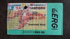 AS ROMA AS MONACO TICKET 1/2 COUPE des coupes COLLECTOR 1989 1990 ASM ITALIA