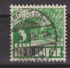 Nederlands Indie 249 CANCEL BANDJONG 1938 Karbouw Netherlands Indies watermark