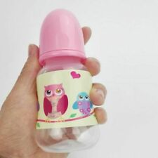 Girl Doll Accessories Reborn Baby Doll Pink Feeding Bottle for Kid's Toys