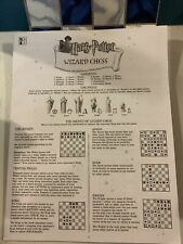 Mattel Harry Potter Wizard Chess Set Instructions Only No Pieces Or Game Board