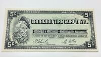 1961 Canadian Tire 5 Five Cents CTC-S1-B-H Circulated Money Banknote E060