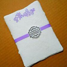 Handmade Paper Sheets - 10 sheets - White/Lavender (851) Free Shipping