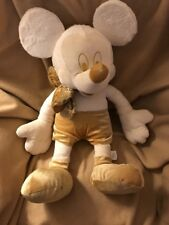 Disney Store Mickey Mouse Plush Gold Cream Large Stuffed Toy 23 Inches