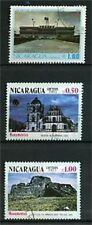 LOT DE TIMBRES OBLITERES MONUMENTS - NICARAGUA
