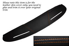 ORANGE STITCHING TOP DASH DASHBOARD LEATHER SKIN COVER FITS MG MGB GT
