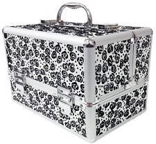 Large Floral Flower Aluminium Beauty Cosmetic Box Make Up Vanity Storage UK Case