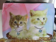 "Cat ~Kittens In A Basket "" Sweet Bundles Of Mischief "" Coin Purse"