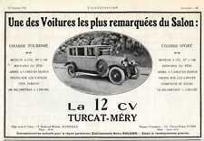 1924 Publicité - Automobile - Marseille : TURCAT-MERY