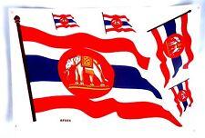 Aufkleber Bogen mit 5 Stück Sticker Thailand Kriegsflagge war flag 26,5 x17,5 cm