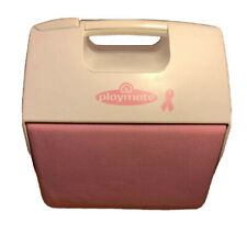New listing Igloo Playmate Pink Ribbon Breast Cancer Awareness Cooler 7 Qt 9 Cans