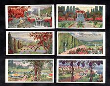 Garden Styles German Gartmann Card Set 1900s Plants Japan Greece France Italy