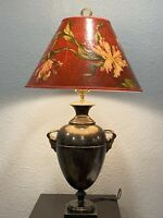 Vintage Chapman Urn Ram Head Brass French Neoclassical Style Table Lamp AS SHOWN