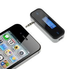 3.5mm FM Transmitter In-Car Wireless Radio Adapter for iPhone 7 6S SE LG G4 G3
