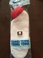 Vintage Superstar Hosiery Sport Womens Socks Tennis Rolled Cuff Red 9-11
