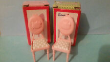 HELLO KITTY DOLL HOUSE FURNITURE   2X CHAIRS  WITH BOXES