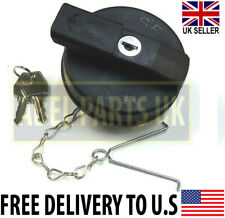 More details for jcb parts-diesel tank cap with 2 keys (332/f4780 or 331/11403) with chain
