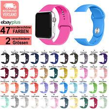 ?? PREMIUM Sportarmband Silikon Sport Armband Apple Watch Series 1 2 3 4 5 6 SE