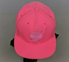 Mitchell And Ness Portland Trail Blazers Snapback Hat Pink Breast Cancer NBA Cap