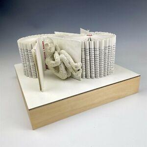 Signed Daniel Lai Kenjio Mixed Media Figural & Book Modernist Wall Sculpture NML