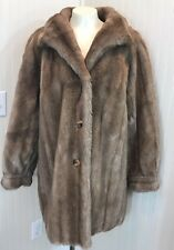 Vintage 70s TISSAVEL France Faux Fur Coat Vegan Made In England Acrylic Large L