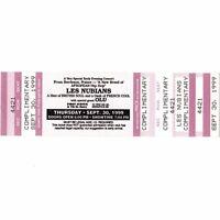 LES NUBIANS & OLU Concert Ticket Stub MINNEAPOLIS MN 9/30/99 FIRST AVENUE Rare