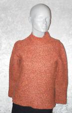Walbusch Pullover 5 % Kaschmir orange/schwarz meliert Stehkragen Größe XS