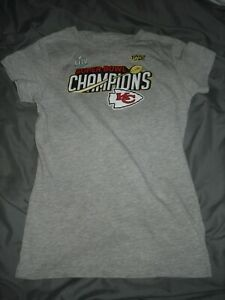 Fanatics Kansas City Chiefs LIV Super Bowl Champions T-Shirt Youth Girls Size XL