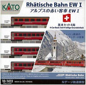 KATO N gauge Alps red passenger car Ew I 4-car basic set 10-1413 (Pre-Order)