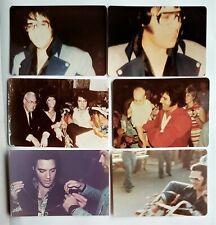 Elvis Presley - 6 Original Candid Photos - 1970 to 1975