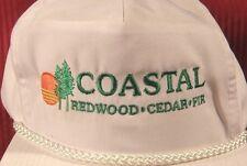 VINTAGE COASTAL FOREST PRODUCTS Snap back REDWOOD CEDAR FIR Trucker Hat  Builder