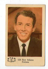 1960s Jahre SCHWEDISCH Film Star Karte Bilder C# 124 Norwegisch Singer Ray Adams