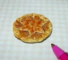 Miniature Apple Pie, Diamond Pattern Crust: DOLLHOUSE Miniatures 1/12 Scale
