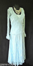 New CHIANTI Size 10 Blue Lace Ladies Designer Wedding Skirt Top & Jacket Outfit