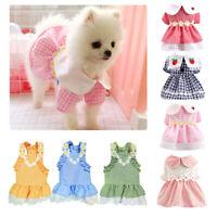 Princess Clothes Summer Dog Dress T-shirt UK Flower Puppy Skirt Chihuahua