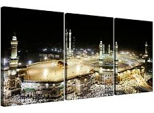 Large Islamic Mecca at Hajj Canvas Pictures Set of 3 for a Living Room