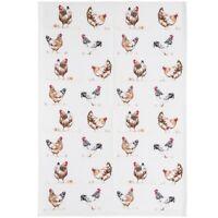 Tea Towel - Chickens Design - CREAM - Kitchen Accessories