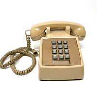 Vintage Western Electric Model Telet Beige Push Button Telephone 1983 80s