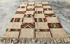 New listing Authentic Hand Knotted Woven Vintage Wool Kilim Kilm Area Rug 8 x 5 Ft (750 Kbn)